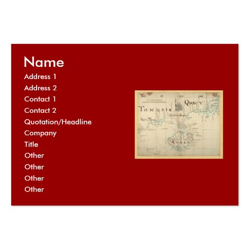 An Authentic 1690 Pirate Map Large Business Cards (Pack Of 100)