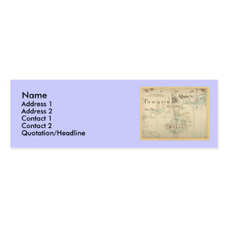 An Authentic 1690 Pirate Map Business Card Template