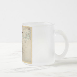 An Authentic 1690 Pirate Map Frosted Glass Coffee Mug