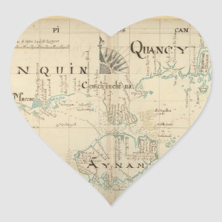 An Authentic 1690 Pirate Map Heart Sticker