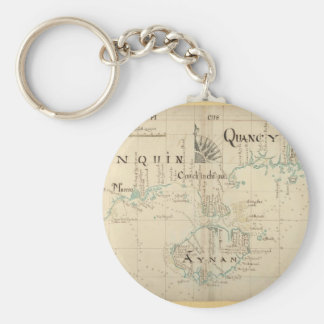 An Authentic 1690 Pirate Map Keychain