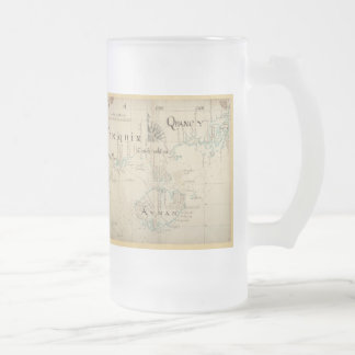 An Authentic 1690 Pirate Map 16 Oz Frosted Glass Beer Mug