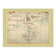 An Authentic 1690 Pirate Map Post Card
