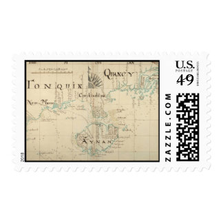 An Authentic 1690 Pirate Map Postage Stamp