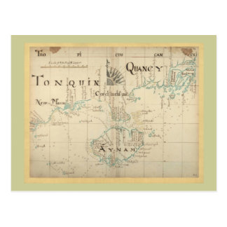 An Authentic 1690 Pirate Map Postcard