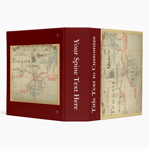 An Authentic 1690 Pirate Map (with embellishments) 3 Ring Binder