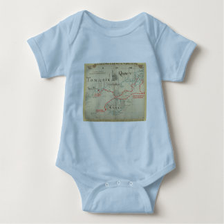 An Authentic 1690 Pirate Map (with embellishments) Baby Bodysuit