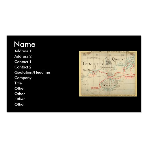 An Authentic 1690 Pirate Map (with embellishments) Double-Sided Standard Business Cards (Pack Of 100)