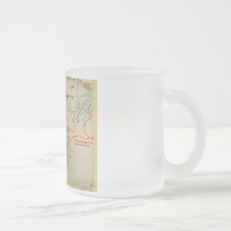 An Authentic 1690 Pirate Map (with embellishments) Frosted Glass Coffee Mug