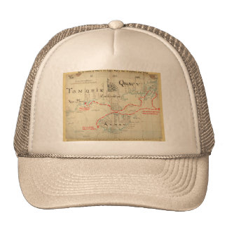 An Authentic 1690 Pirate Map (with embellishments) Mesh Hat