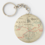 An Authentic 1690 Pirate Map (with embellishments) Keychain