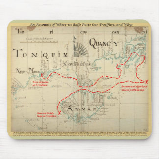 An Authentic 1690 Pirate Map (with embellishments) Mouse Pad