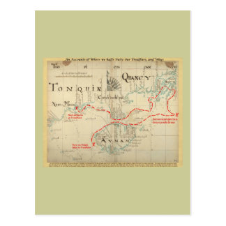 An Authentic 1690 Pirate Map (with embellishments) Postcards