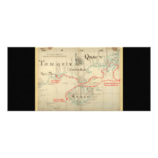 An Authentic 1690 Pirate Map (with embellishments) Rack Card