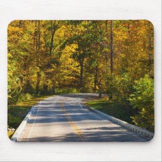 An Autumn Drive mousepad