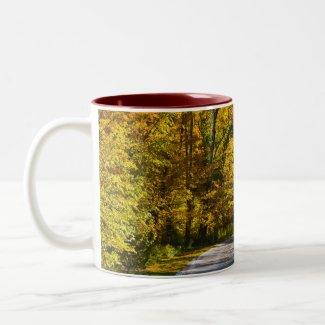An Autumn Drive mug