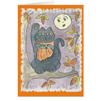 An Autumn Good Luck Wish Card