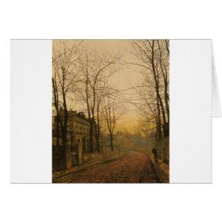 An Autumn Idyll by John Atkinson Grimshaw Card