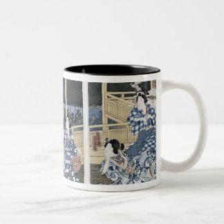 An Autumn Moon over Fukagawa Two-Tone Coffee Mug