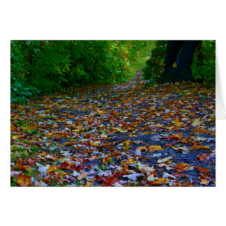 An Autumn Path Card