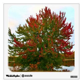 An Autumn Silver Maple Tree Wall Sticker