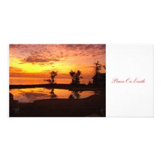 An Autumn Sunset Card