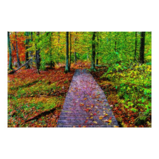 An Autumn Walk impressionist Poster