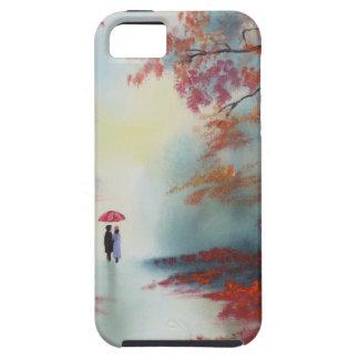 an autumn walk on a rainy day by Gordon Bruce iPhone SE/5/5s Case