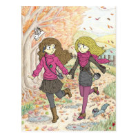 An Autumn Walk Postcard