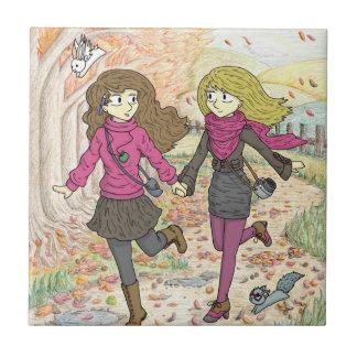 An Autumn Walk Tile
