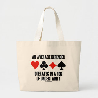 An Average Defender Operates Fog Uncertainty Large Tote Bag
