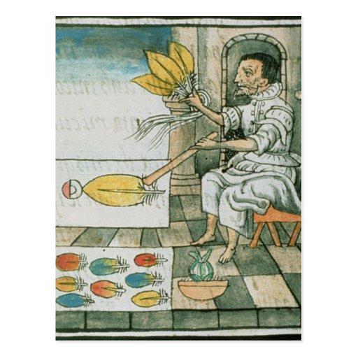 An Aztec feather artisan Post Card
