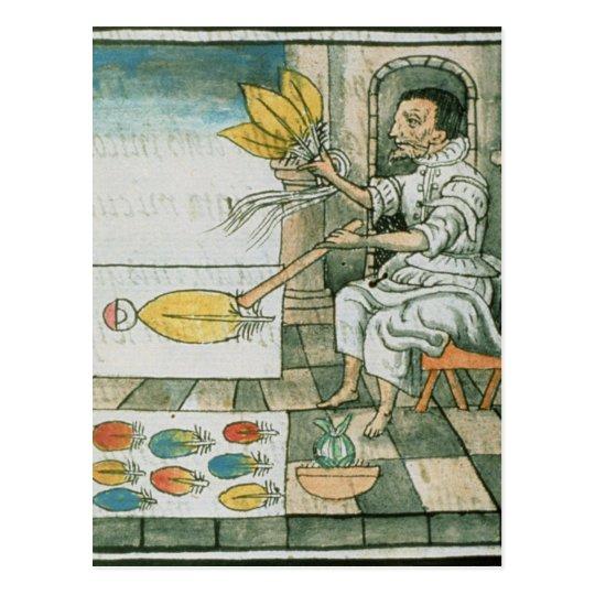 An Aztec feather artisan Postcard