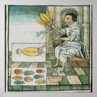 An Aztec feather artisan Poster