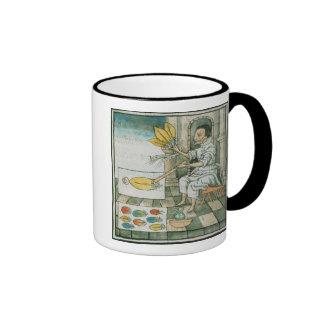 An Aztec feather artisan Ringer Mug
