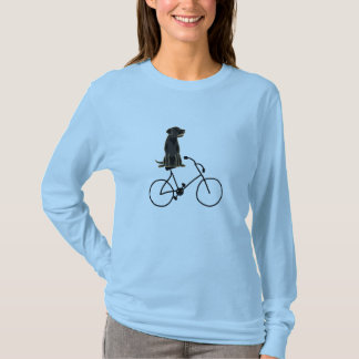 AN- Black Labrador Riding a Bicycle Shirt