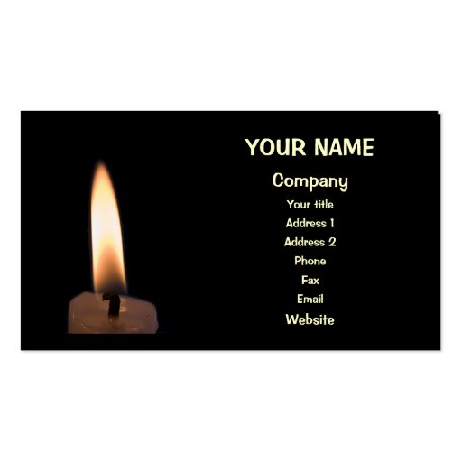 Candle business card templates page2 bizcardstudio an burning candle business cards colourmoves Choice Image