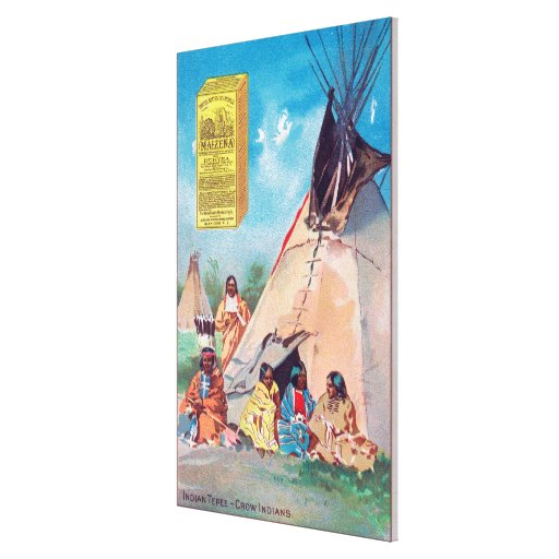 An Crow Indian Tepee, Maizena Product Ad Stretched Canvas Print