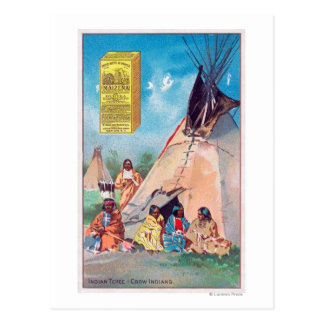 An Crow Indian Tepee, Maizena Product Ad Postcard