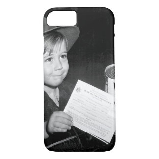 An eager school boy gets his_War image iPhone 7 Case