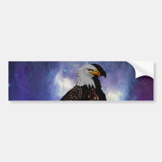 An eagle in the mirror bumper sticker