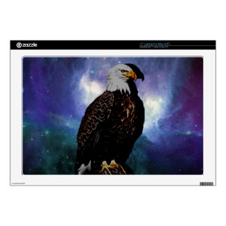 An eagle in the mirror laptop skins