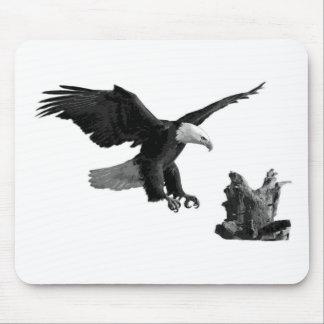 An Eagle Landing Mouse Pad