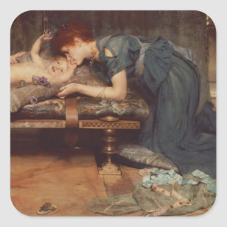 An Earthly Paradise, 1891 (oil on canvas) Square Sticker