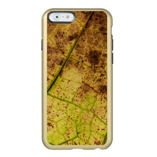 An Earthy Yellow and Brown Leaf Macro Image Incipio Feather Shine iPhone 6 Case
