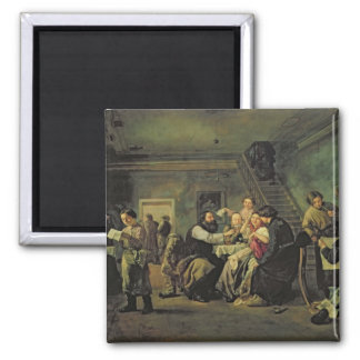 An Eating House, 1859 2 Inch Square Magnet