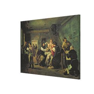 An Eating House, 1859 Canvas Print