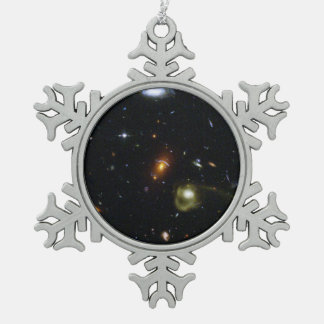 An Eclectic Mix of Galaxies Snowflake Pewter Christmas Ornament
