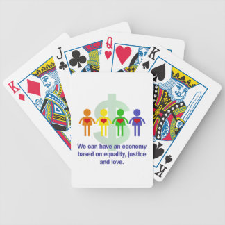 An Economy Based on Equality, Justice and Love Bicycle Playing Cards