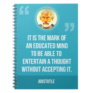An Educated Mind Quote Notebook
